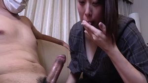 Uncensored asian sucking cock in the Tokyo