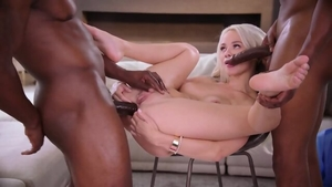 Blonde haired Elsa Jean threesome