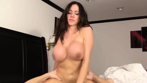Nailed rough with big tits brunette