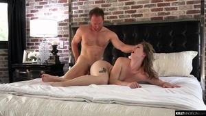 Tattooed hairy blonde haired POV toys action in HD