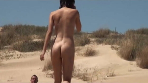 Skinny amateur group sex at the beach in HD