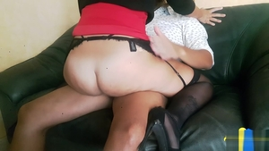 Big butt brunette voyeur blowjobs