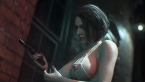 Evil Jill Valentine feels the need for raw sex