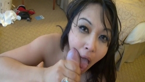 Charming chick Mika Tan finds irresistible hard ramming in HD