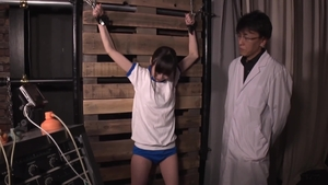 Small boobs electro torture threesome in HD