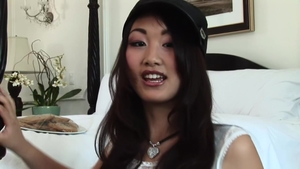 Asian Evelyn Lin feels in need of real fucking in stockings HD