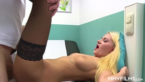 Super hot blonde finds irresistible hard pounding HD