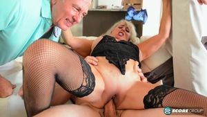 Large tits blonde haired humiliation