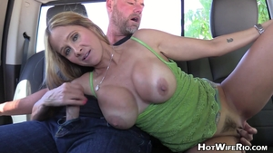 Jack off with hairy blonde hair Hot Wife Rio outdoors