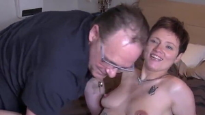 Young brunette dick sucking flashing HD