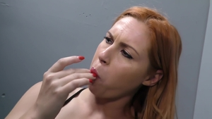 Large tits redhead creampied HD