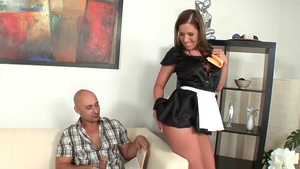 Fucking hard escorted by french maid Susanna White
