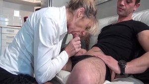 Charming french stepmom experience swallow HD