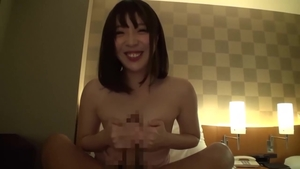 Censored receiving facial alongside hairy asian brunette