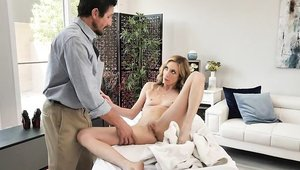 Long haired Aiden Ashley really likes fingering
