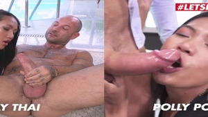 Asian slut Polly Pons finds irresistible good fuck