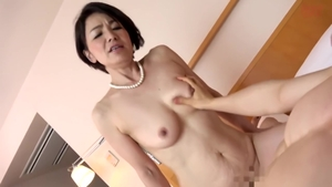 Amazing asian brunette helps with nailing HD