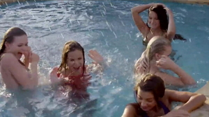 Blonde hair Patricia Patritcy orgy outdoors