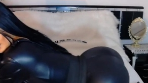Nude female wearing catsuit fetish butt sex
