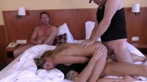 Double penetration at the audition