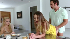 Brad Newman in company with small tits stepmom Shae Blaze