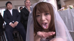 Japanese in stockings getting a facial at the wedding HD