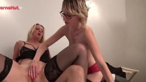 Louise Du Lac in tight stockings cum swallow in HD