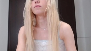 Petite teen riding a dick on live cam