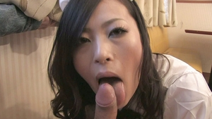 Hard nailining asian brunette in sexy stockings