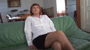 Fucking hairy french mature in sexy stockings