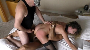 Hard pounding russian in sexy stockings