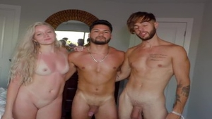 'Pipers friend Oliver Takes His First cock In His First three-some!'