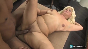 Chubby big ass mature cock sucking at the castings