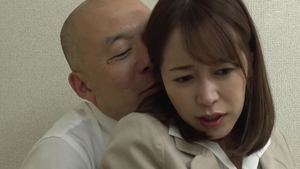 Hairy japanese mature censored rides a hard dick in office
