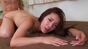 Hard nailining together with hairy japanese mature