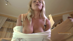 Fucking in company with adorable MILF