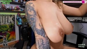 Pussy fucked live on cam next to busty amateur