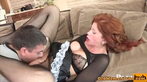 Plowing hard with large boobs stepmom