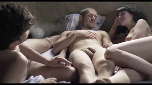 Threesome in company with latina bisexual