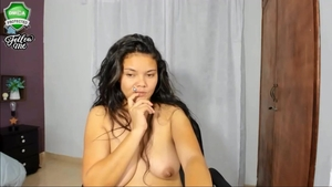 Homemade latina pussy eating on webcam