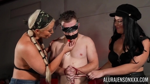 Huge tits and very sexy Alura Jenson femdom