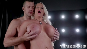 Buxom Alura Jenson rough sucking cock