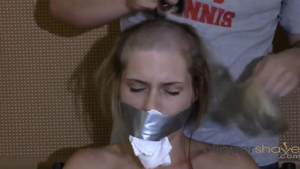 Bald blonde fetish humiliation in HD