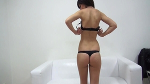 Shaved czech brunette licking ass at the castings
