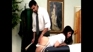 Sexy babe discipline in the clinic