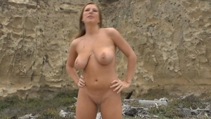 Pussy fuck at the beach