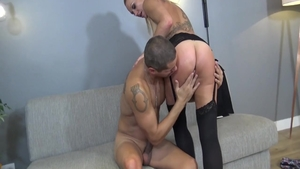 Hottest blonde cumshot