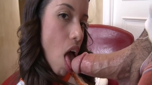 Hard ramming together with young latina brunette