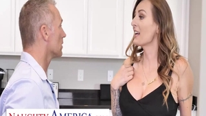 Natasha Starr & Marcus London rough cock sucking