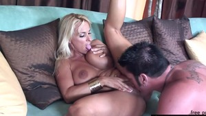 Pussy fucking escorted by large boobs pornstar Holly Halston